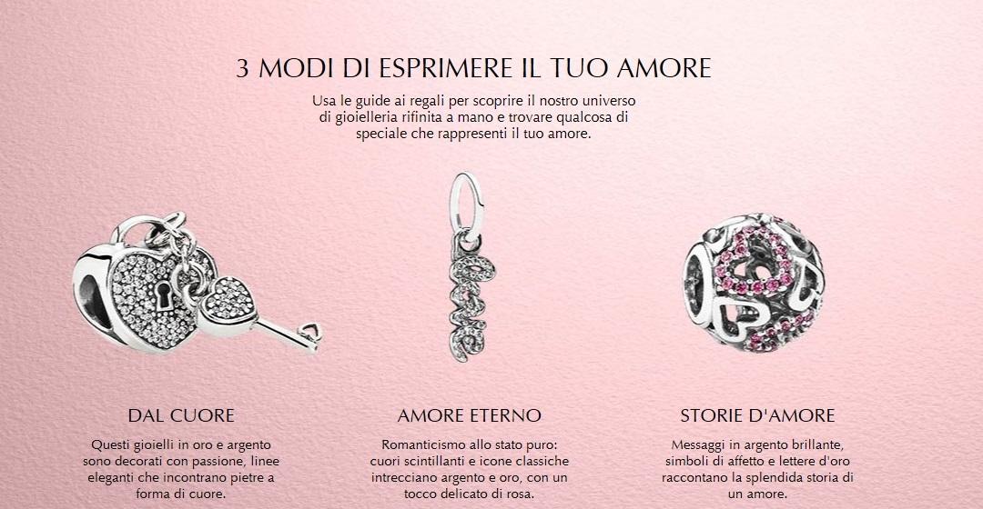 Vieni a scoprire la nuova collezione Pandora di San Valentino